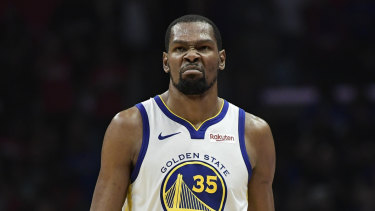 low priced c24e3 f292e Golden State's NBA superstar Kevin Durant compared to ...