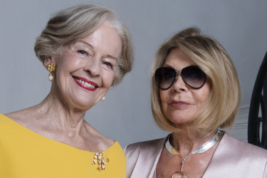 Carla Zampatti with Quentin Bryce at her Woollahra home, Carla is launching her own mag for 55th year in business. 18th February 2020 Photo Louise Kennerley SMH