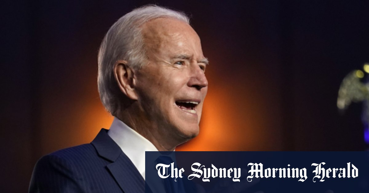 'We're going to win': Biden claims mandate as he closes in on victory – Sydney Morning Herald