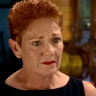 'Sick of it': Pauline Hanson breaks down in tears on A Current Affair
