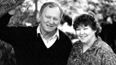 Shirley Stackhouse and Phil Haldeman, presenters of Over the Fence on 2UE, in  1999.