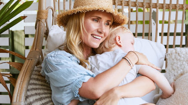 Magdalena Roze with her youngest son Charlie, 23 months.