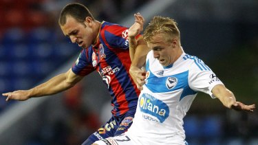Late addition: Former Melbourne Victory player James Jeggo (right) has been called into Graham Arnold's squad.