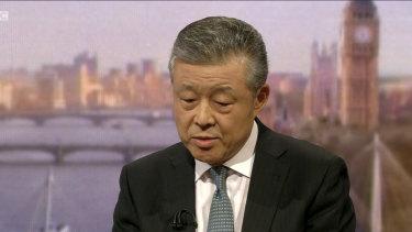 China's ambassador to the UK Liu Xiaoming.