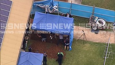 Detectives are digging at a Bracken Ridge site in Brisbane's north as part of the investigation into the disappearance of US woman Priscilla Brooten.