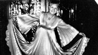 Shirley Finn wearing the dress in which she was found murdered.
