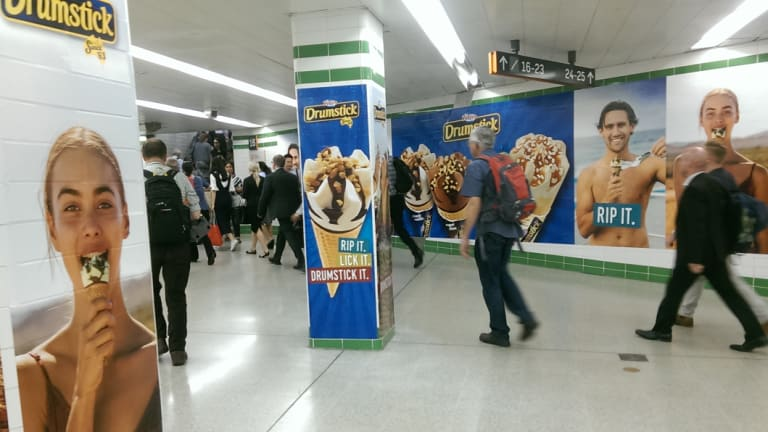 About 80 per cent of food ads on Sydney buses and at trains stations are for junk food.