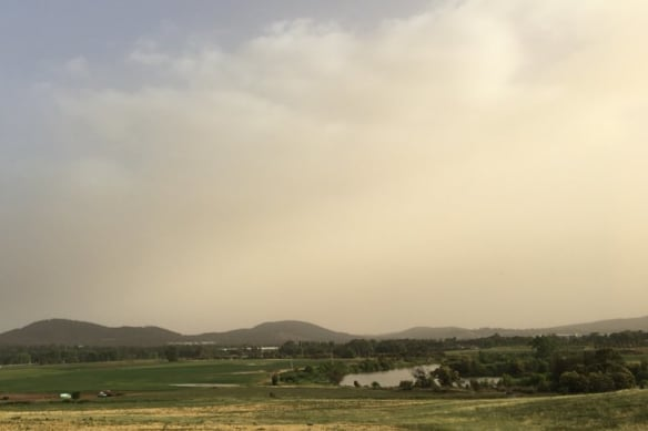 Dust storm that engulfed outback NSW could blow into Canberra today