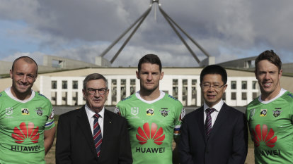 Huawei hopes for brand boost from Raiders grand final appearance