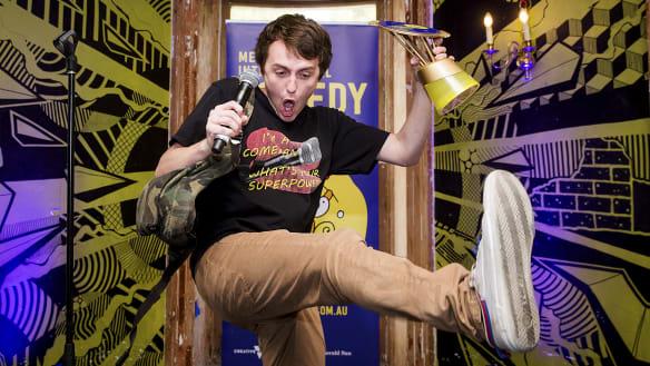 Sam Campbell wins Melbourne comedy festival's prestigious Barry Award
