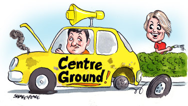 Centre Ground, the Business Council's political campaigning outfit, has been disbanded. Illustration: John Shakespeare