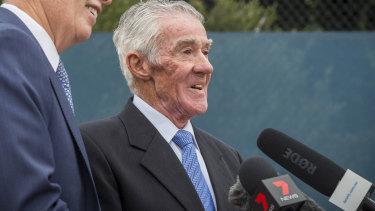 Australian tennis great Ken Rosewall.