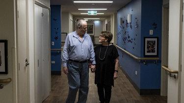 Anne Fairhall visits her husband, Geoff, most days.