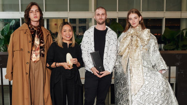 Lachlan Mitchell, Kim Clark and Domenic Roylance (AUSFF 2019 winners) Sophie Turnbull.