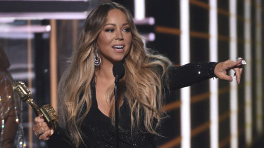 Mariah Carey accepts her Icon Award.