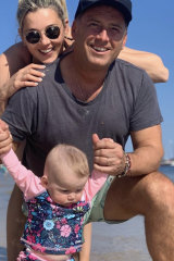 Karl and Jasmine Stefanovic with their baby daughter Harper.