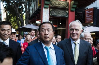Malcolm Turnbull and alleged Chinese influence agent Huang Xiangmo at the lantern festival in Sydney in 2016.