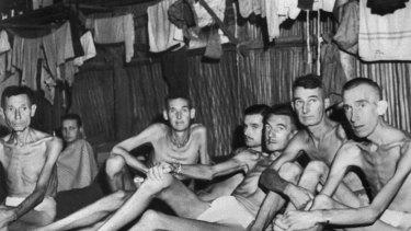 Australian POWs in Singapore c 1945.