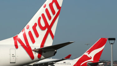 Virgin, Qantas flights grounded in Geraldton after tarmac sticks to