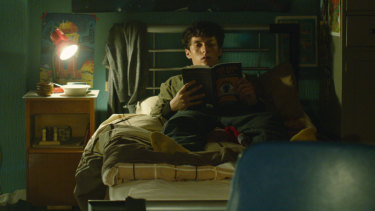 Fionn Whitehead stars as young computer game developer Stefan Butler in <i>Bandersnatch</i>, an interactive movie-length episode of <i>Black Mirror</i>.