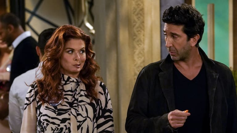 Former <i>Friends</i> star David Schwimmer has joined the cast as Grace's new love interest.