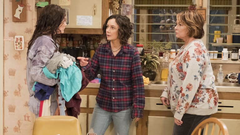 A spin-off would focus on Darlene, played by Sara Gilbert (centre).