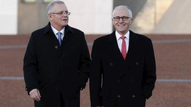 Treasurer Scott Morrison and Prime Minister Malcolm Turnbull.