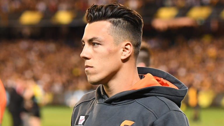 Giant no more: It was done late but Dylan Shiel has gone to the Bombers.