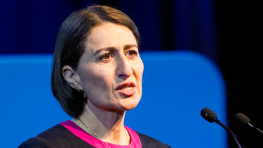 Premier Gladys Berejiklian has made billions of dollars in promises in health, education and transport in launching her campaign in Penrith.