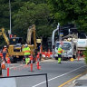 Delays for days amid emergency work on Fortitude Valley intersection