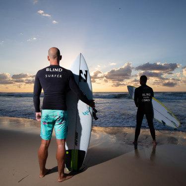"Matt Formston with surf coach Michael Crisp. ""It's all about trust."""