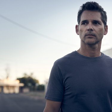 You can never go home: Eric Bana as Aaron Falk, the detective who finds himself dragged back into an ancient mystery in the country town in which he grew up in The Dry.