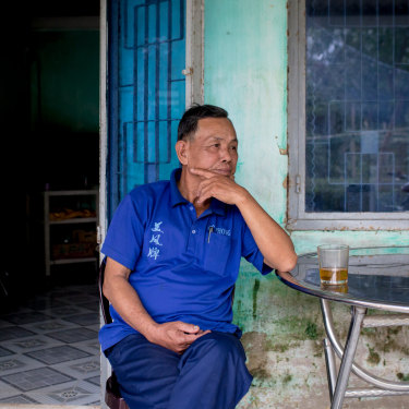 """Nguyen Yen was born and raised in Triem Tay village, and has lived through the many floods it   has endured. """"Whenever the floods came, we stayed in the garret and ate instant noodles to survive,"""" he said."""