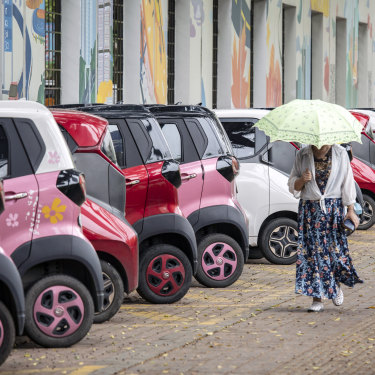 China's electric vehicle companies dominate the local market.