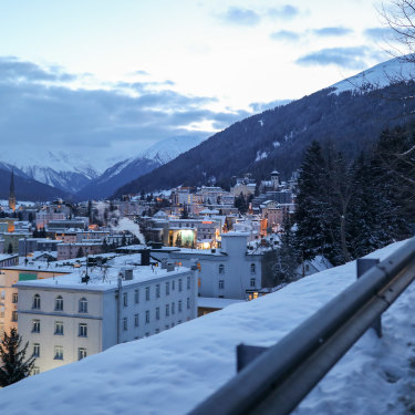 Davos: the calm before the event.
