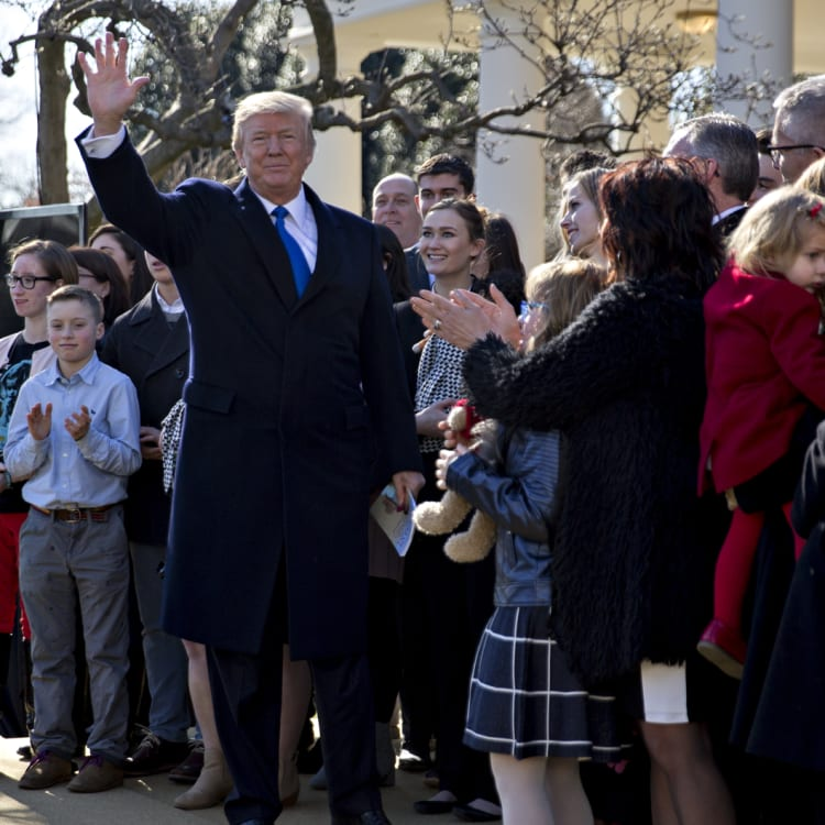 President Trump at the March for Life in Washington.