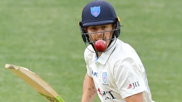 NSW opener Daniel Hughes hits half-ton against SA in Sheffield Shield