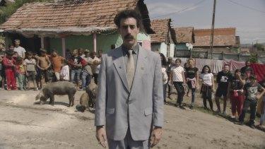 Sacha Baron Cohen as Borat.