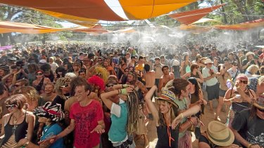Revellers at the Rainbow Serpent Festival