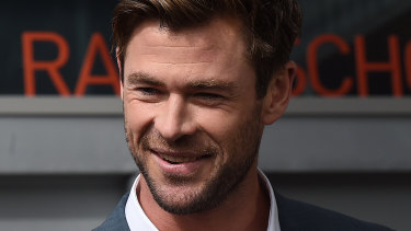 Chris Hemsworth in Sydney on Friday.