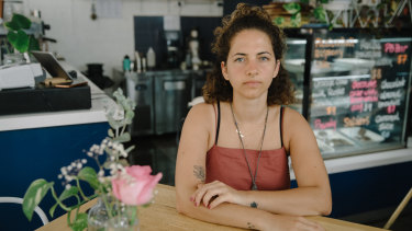 Sarah Shaweesh, owner of Khamsa Cafe in Newtown, which is offering free food to casual workers and freelancers.