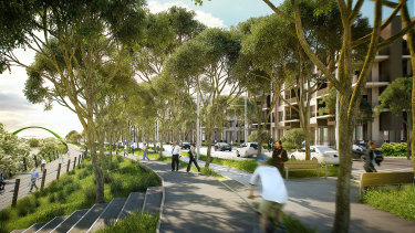 An artist's impression of redevelopment at Camellia.