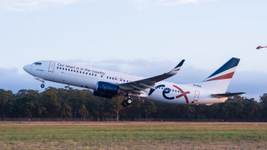 Rex says the domestic travel market is too uncertain to take delivery of more jet aircraft.