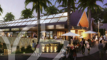 An artist's impression of the proposed Dusit Thani Brookwater Golf and Spa. Dusit Thani later terminated its relationship with Mr Turner.