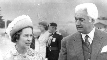 The Queen with then-Governor-General Sir John Kerr in 1977.