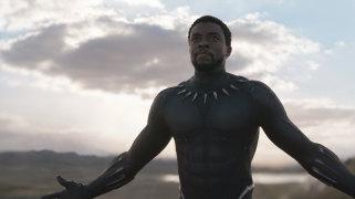 Chadwick Boseman as T'Challa/Black Panther.
