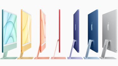 Apple's new iMac is available in a range of colours.