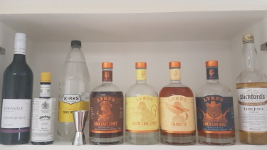 Building your fake booze cabinet: it's all about psychology.