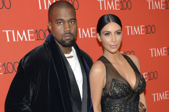 Kim and Kanye in happier times.