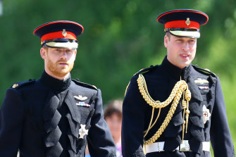 Princes Harry and William - pictured at Harry's wedding in 2018 - will reunite at their grandfather's funeral for the first time since the Oprah interview.